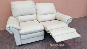 Кожаный диван с функцией релакса