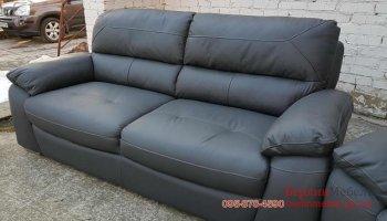 Комплект кожаных диванов 3+2