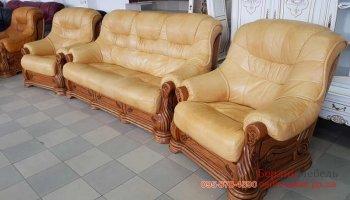 Комплект мягкой мебели на дубовом каркасе