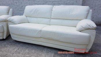 Кожаный диван для гостинной