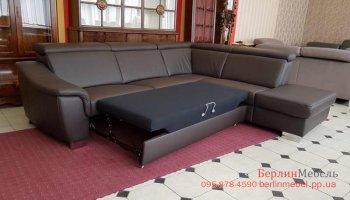 Кожаный диван в угол