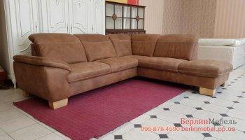 Угловой диван из нубука